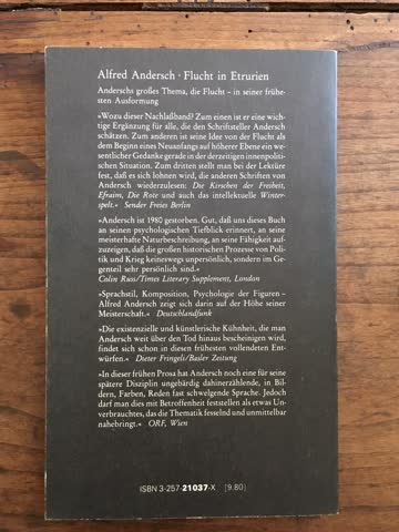 Andersch, Alfred: Flucht in Etrurien