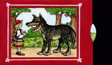 Lebende Karte - Rotkäppchen und Wolf