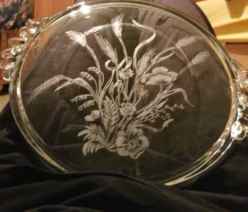 Torten Platte aus Glas