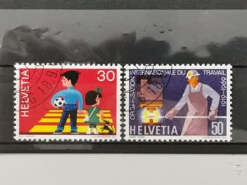 1969 Helvetia ET-Stempel
