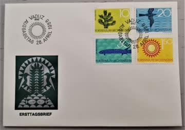 1966 FDC Liechtenstein