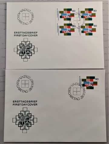1967 FDC Liechtenstein