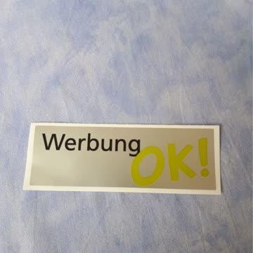 "Briefkastenaufkleber ""Werbung o.k."""