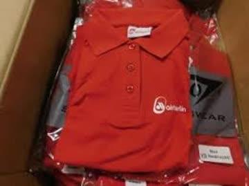 airberlin Poloshirt rot Damengrösse S (14)