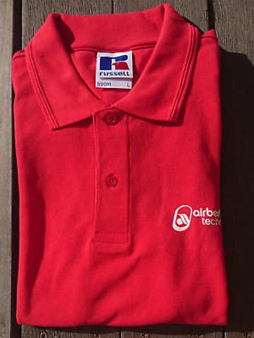 Adventsaktion: airberlin Poloshirt rot Damengrösse S (20)