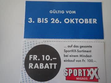 10.- Rabatt Sportxx Surseepark