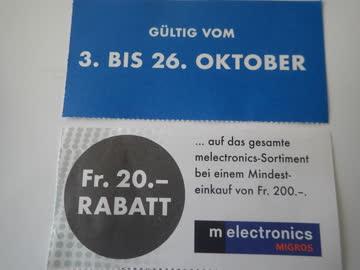 20.- Rabatt melectronics Surseepark