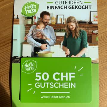 Hello Fresh 50.- CHF auf Kochbox
