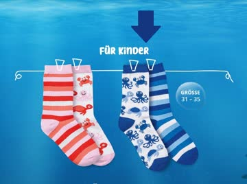 Coop Sea Happy 1 Set Kindersocken à 2 Paare Gr. 31-35