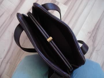 "braune Lederhandtasche ""Vintage"" mit kl. Portemonne"
