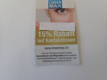 Gutschein Linsen Max, 15% Rabatt
