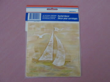 Kachel-Decor 'Segelboot'