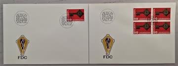 1968 FDC Liechtenstein