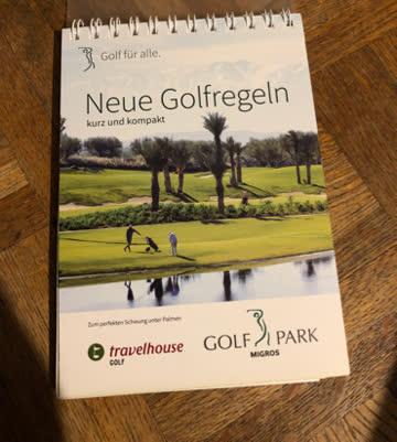 Kleines Booklet über Golfregeln