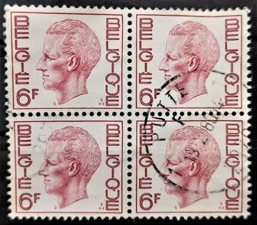 1972 Belgien Viererblock