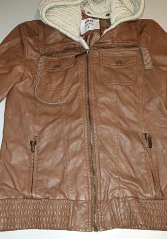 1 mal getragene Kunstlederjacke gr S