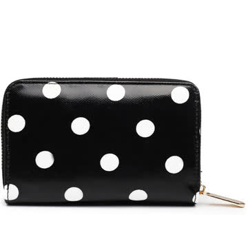 NEU! Portemonnaie schwarz-weiss Polka dots