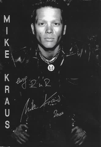 Autogramm, Mike Kraus