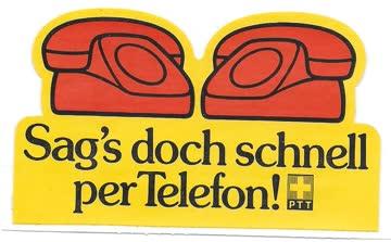 Kleber, PTT Telefon