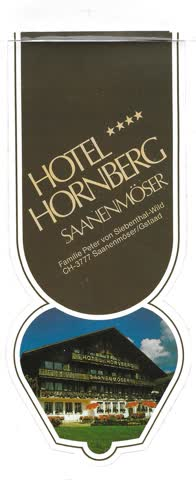Kleber, Hotel Hornberg, Saanenmöser