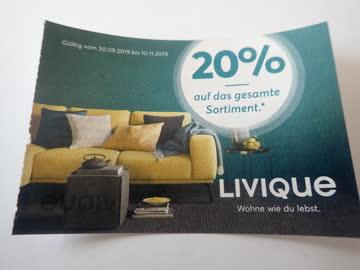 Gutschein Livique-Wohnen 20% Rabatt