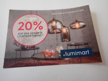 Gutschein Lumimart 20% Rabatt