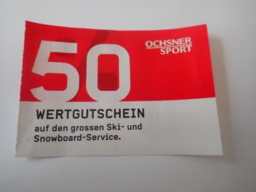 Gutschein Ochsner Sport CHF. 50.-