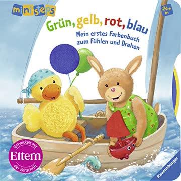 Grün, gelb, rot, blau: Mein erstes Farbenbuch zum Fühlen und Drehen