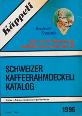 Käppeli Schweizer Kaffeerahmdeckeli Katalog 1996