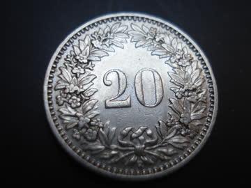 20 Rappenstück von 1908