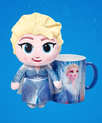 """1 Plüschfigur und Tasse """"Elsa"""" - Disney Winterzauber"""