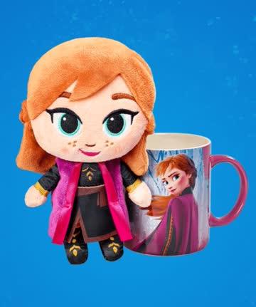 """1 Plüschfigur und Tasse """"Anna"""" - Disney Winterzauber"""