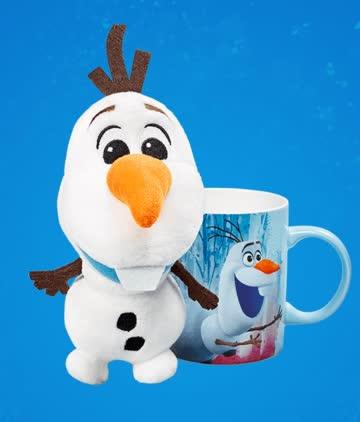 """1 Plüschfigur und Tasse """"Olaf"""" - Disney Winterzauber"""
