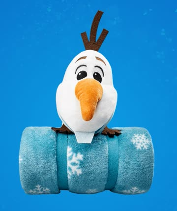 1 Kinderdecke 100x120cm Olaf - Disney Winterzauber