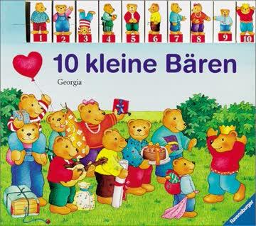 10 kleine Bären: Bilderbuch mit Registerstanzung