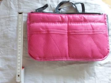 Taschenorganizer pink/rosa grau