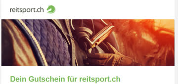 Gutschein für reitsport.ch 15 Fr. ab 80 Fr.
