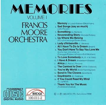 Francis Moore Orchestra: Memories, Vol 1