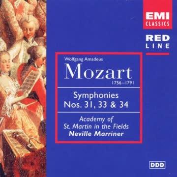 Neville Marriner - Red Line - Mozart (Sinfonien 31 + 33 + 34)