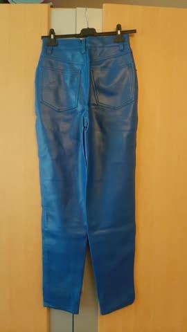 blaue Hose PU Gr 38
