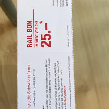 Rail Bon fr 25.- für Halbtax