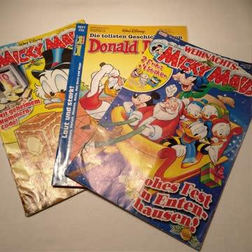 Drei Disney Micky Maus & Donald Duck Comic Magazine