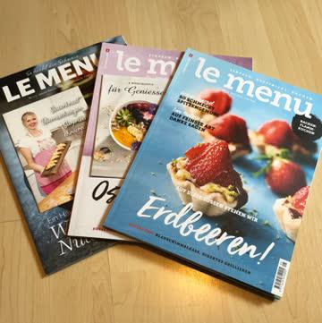 Vier Hefte von.  Le Menu