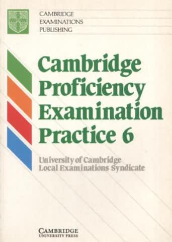 Cambridge Proficiency Examination Practice 6