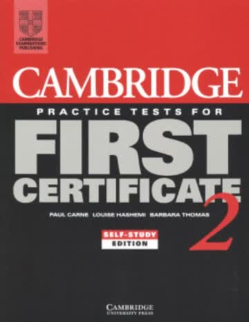 Cambridge Practice Tests for First Certificate 2 Self-study Student's Book: Self-study Book Bk. 2 (FCE Practice Tests)