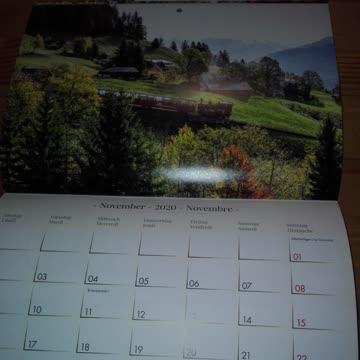 Kalender 2020 Brienzer Rothorn Bahn