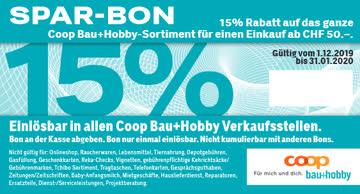 Coop Bau & Hobby 15% Rabatt Gutschein