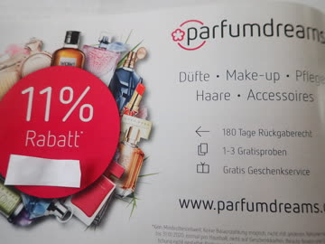 Gutschein parfumdreams 11% Rabatt