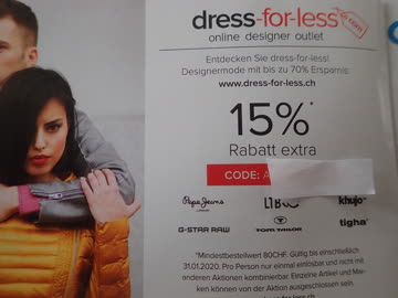 Gutschein dress-for-less 15% Rabatt