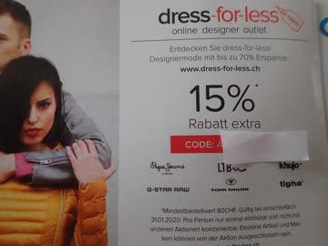 Gutschein dress-for-less 15% Rabatt